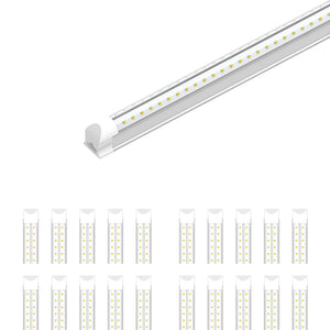T8 4ft LED Tube 22W V Shape Integrated 2 Row 6500k Clear
