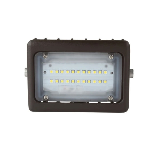 LED Flood Light ; 15W Flood Mount 5700K ; Bronze