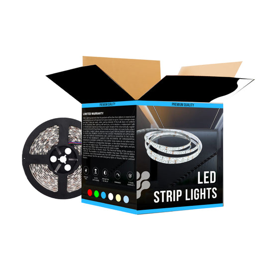 Outdoor RGB LED Strip Lights, 12V LED Tape Light w/ DC Connector,SMD 5050, 63 Lumens/ft