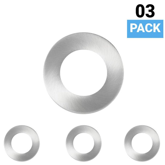 3-Pack Trim Only For Magnetic LED Puck Light, Brushed Nickel