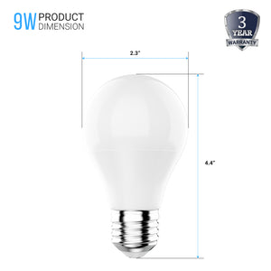 LED A19 - 9 Watt - 800lm Non-Dimmable - 4000K - Natural White