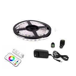 Outdoor LED Light Strips with RGB Outdoor Lighting Applications - LED Tape Light with Power Supply and Controller (KIT)