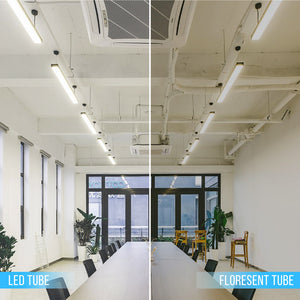 Hybrid T8 4ft LED Tube Glass 18W 2400 Lumens 6500K Clear