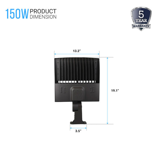 150W LED Pole Light; 5700K ; YM Bronze; AC100-277V