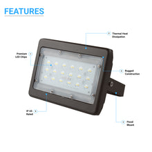 Load image into Gallery viewer, LED Flood Light 30 Watt 5700K Black Finish