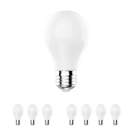 LED Light Bulb A19 - Dimmable 9.8W, 6500K, 800 Lumens, Crystal White (E26)
