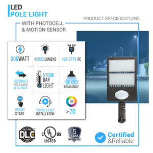 Commercial Parking Lot Lights With Photocell