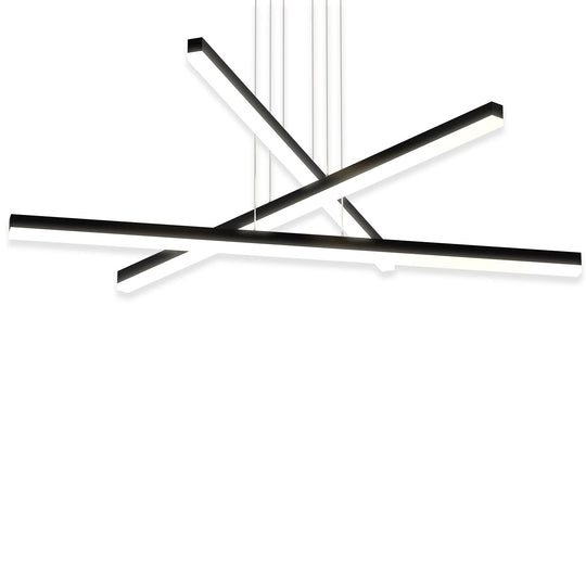3-Lights, Linear Chandelier, 119W, 3000K, 3718LM, Dimmable, Pendant Mounting, 39.4''×71'' Wide