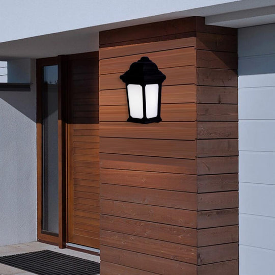 15W LED Outdoor Wall Light, 5000K (Daylight White), Textured Black Finish, 800 Lumens, ETL Listed