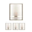 "Load image into Gallery viewer, Decorative Wall Sconces Lighting, Dimension: 9"" W x 12""H x 5""E,  Brushed Nickel Finish with White glass shade"