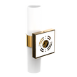 Load image into Gallery viewer, 2-Lights Wall Sconce with White Glass Shade, Cylinder-Shape, Brushed Brass Finish