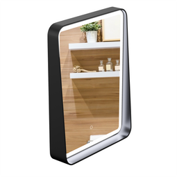 LED Lighted Shelf Mirror, Touch Sensor Switch, CCT Remembrance, Defogger, Raven Style, Bathroom Vanity Mirrors