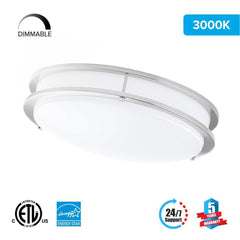 12 inch LED Double Ring Flush Mount, 1050 Lumens, Power: 15W, 3 Color switchable (3000K/4000K/5000K)