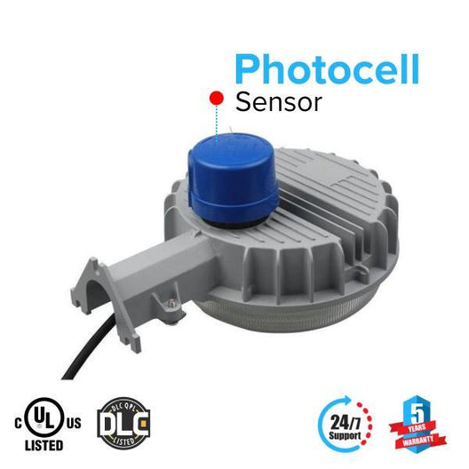Photocell sensor for dusk to dawn feature on LED Pole Light 35W by LEDMyPlace Canada