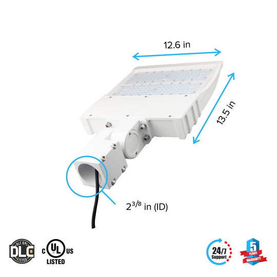 Dimensions of LED Pole Light/ Street Light 150W White Adjustable Mount by LEDMyPlace Canada