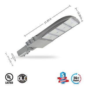 Dimensions of LED Pole Light/ Shoebox Street Light 300W Silver Adjustable Mount/ Slip-fitter by LEDMyPlace Canada