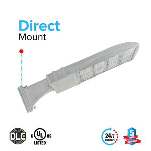 LED Pole Light/ Shoebox Street Light 300W Silver Direct Mount by LEDMyPlace Canada