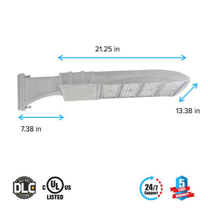 Dimensions of LED Pole Light/ Shoebox Street Light 300W Silver Direct Mount by LEDMyPlace Canada