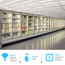 Load image into Gallery viewer, 5ft T8 LED Freezer & Cooler Tube, 32W, 5000K, Clear, V Shape, Walk-in Display Tube Lights