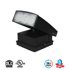 60W RGB LED Wall Pack Light ; AC100-277V ; Bronze