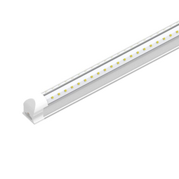 T8 8ft, 60 Watt V Shape LED Integrated Tube 6500K Clear, 210W Equivalent, 7200 Lumens, 100-277V, Plug and Play, Commercial LED Lighting