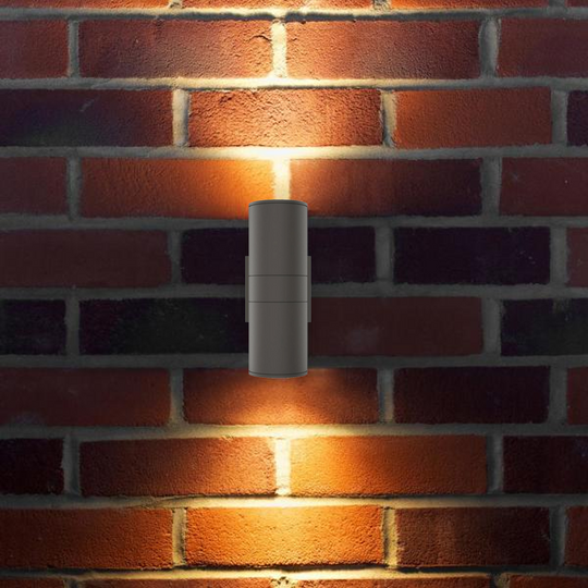 LED Wall Light Fixture - Cylinder / Wall Lights, 12WX2, AC100- 277V, Double Side, Light Bronze