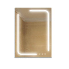 "36"" x 48"" Inch LED Bathroom Lighted Mirror; Defogger & Dimmer, On/Off Touch Switch and CCT Remembrance"