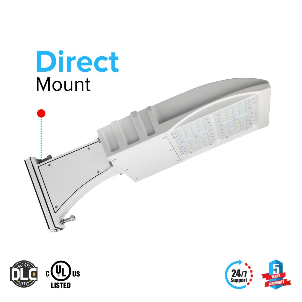 LED Pole Light/ Street Light 150W White Direct Mount by LEDMyPlace Canada