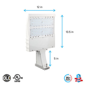 Dimensions of LED Pole Light/ Street Light 150W White Direct Mount by LEDMyPlace Canada