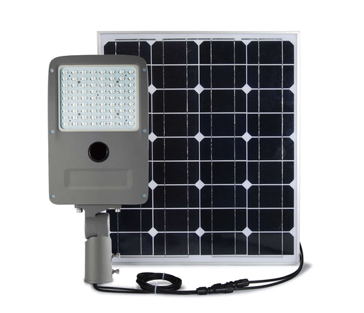 LED Solar Street Light Set ; 20W w/ 50W Solar Panel ; 6000K - LEDMyplace