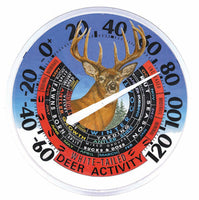 Outdoor Deer Activity Thermometer - Yard Décor
