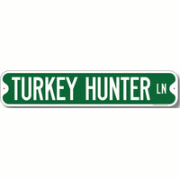 Hunting Themed Green Road Sign Decorations