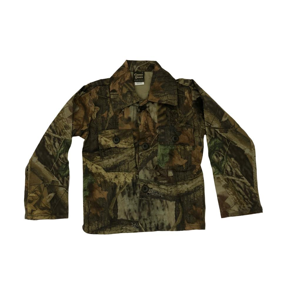 Kid's Hunting Camo Two Pocket Button Down Jacket