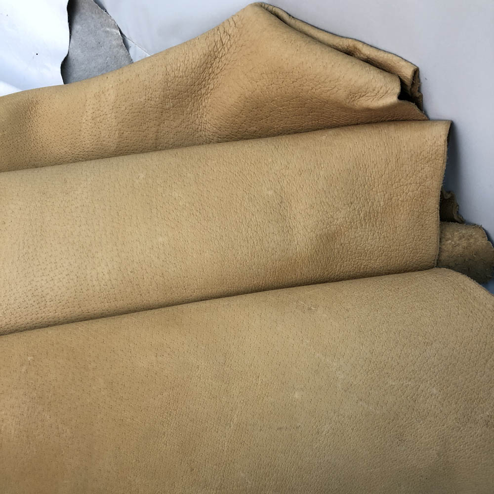 Cream Boar Leather Hide - 16-19 Square Feet - 4-5 oz