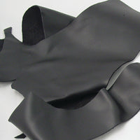 Large Black Leather Pieces - 4-5 oz Black Leather Scraps