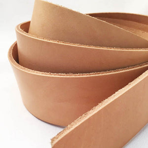 Long Belt Strips - 7-9 oz Cowhide Oak Shoulder Leather Strips