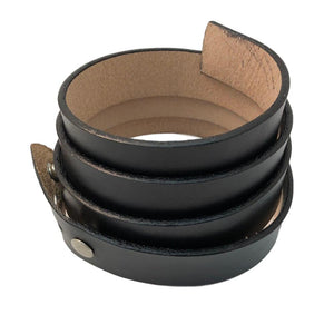 Finished Leather Dress Belts - Black - Brown