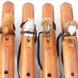 Wildlife Themed Hand Carved Wooden Flutes
