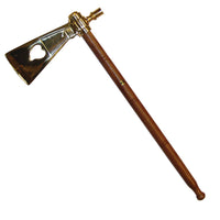 English Style Polished Brass Tomahawk Smoking Pipe