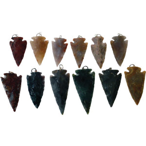 Agate Arrowhead Pendants - Native Jewelry Accessories