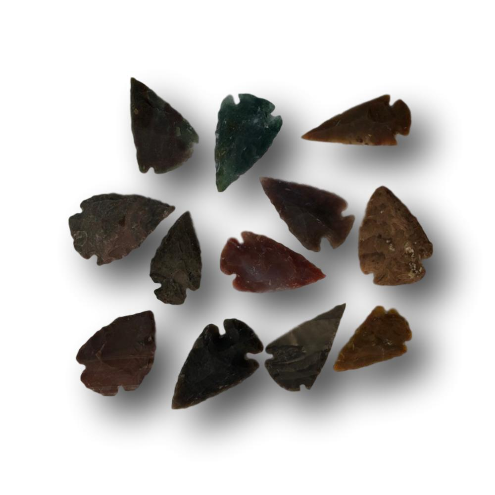 Hand Crafted Agate Arrowheads - Traditional Bow Making Arrowheads