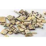 Assorted Bone Buttons, Beads, Spaces, and other Accessories