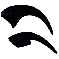 Black Horn Bird Claws - Pack of 10 - Native Craft Supplies