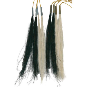 Scalp Locks - Trimmed Horsehair Accents - Native Craft Accessories