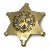 Large Wild West Brass Badges - Deputy US Marshal - Sheriff - Texas Ranger - Marshal