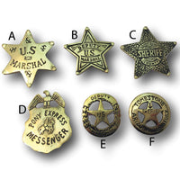 Medium Western Brass Badges