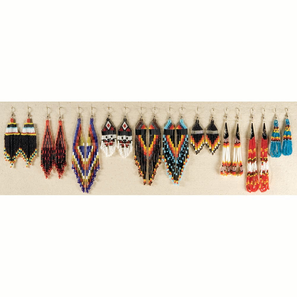 0323d442c1955 Hand Made Indian Style Beaded Earrings - Colorful Native American Jewelry