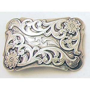 Intricate Floral Trophy Belt Buckle