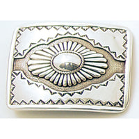 Rectangular Southwestern Trophy Belt Buckle