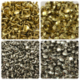 "Brass & Nickel Rivets for Leather Crafts - 5/16"" Medium Stem"